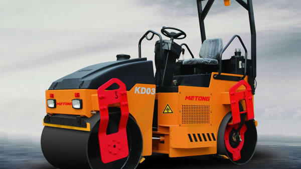 Double Drum Vibratory Roller (Full Hydraulic Road Roller, Model KD03)
